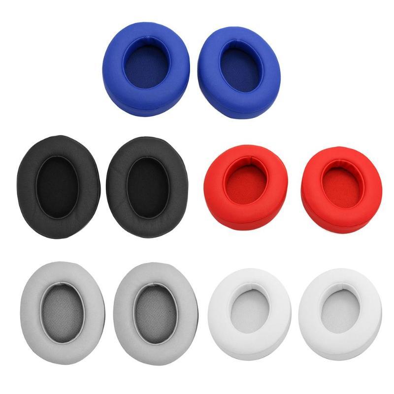 2pcs Foam Earpads Earmuffs Cushion for Monster Studio 2.0 Wireless Headset  Soft Foam Protein Leather Headphone Ear Pads newst