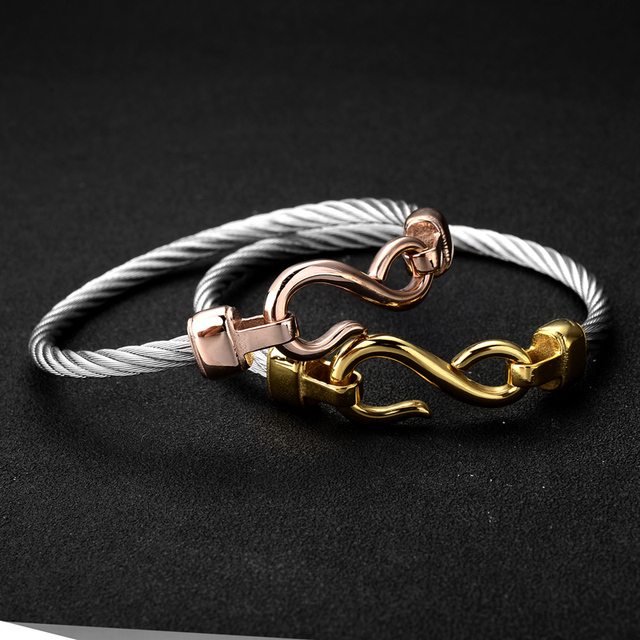 2016 Luxury Famous Brand Type S Bracelet Fine Jewelry Heart Bracelet For Women Gold Charm Bracelet pulseiras Fashion Jewelry