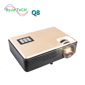 Image 1 - ByJoTeCH Q8 NEW 5000 lumens Full 1080P 4K 2K Android  Projector WIFI Bluetooth  Home Theater Beamer Support USB HDMI Proyector