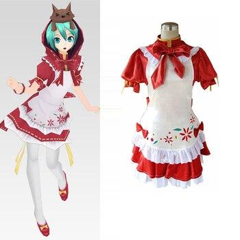 9fec947cb0 Vocaloid proyecto Diva Red Miku Cosplay uniforme traje mujeres niñas Maid  disfraces de Halloween tamaño personalizado envío gratis