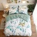 Neue 3/4 stücke Kurze stil Gewaschen baumwolle Bettwäsche Sets. Bettwäsche  Bettwäsche  Bettlaken Kissenbezug/bett Set.|Bettwäsche-Sets|Heim und Garten -