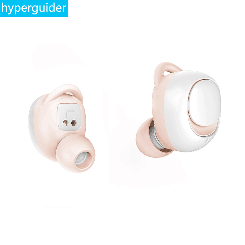 hyperguider Bluetooth 5 0 wireless earphone mosum Portable TWS stereo earbuds Waterproof IPX5 Remote control for