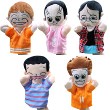 Family hand puppets toys for kids children Appease doll 25cm big plush dolls Daddy mom brother sister puppet >3 years kids toys