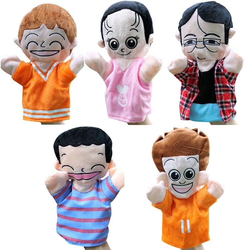 ครอบครัวหุ่นมือของเล่นสำหรับเด็กเด็กเอาใจตุ๊กตา 25 เซนติเมตรบิ๊กตุ๊กตาตุ๊กตาพ่อแม่พี่ชายน้องสาวหุ่น> 3 ปีเด็กของเล่น