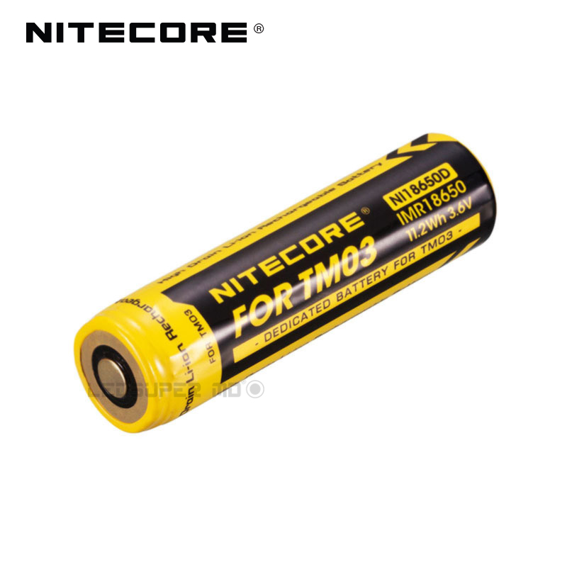 Original Nitecore NI18650D 11.2Wh 3.6V High Drain Li-ion Rechargeable IMR18650 Dedicated Battery for TM03 italy iptv a95x pro voice control with 1 year box 2g 16g italy iptv epg 4000 live vod configured europe albania ex yu xxx