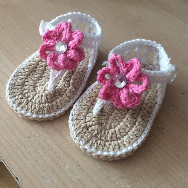 Marke Babyschuhe Handgemachte Baby Gestrickte Schuhe Mädchen Häkeln