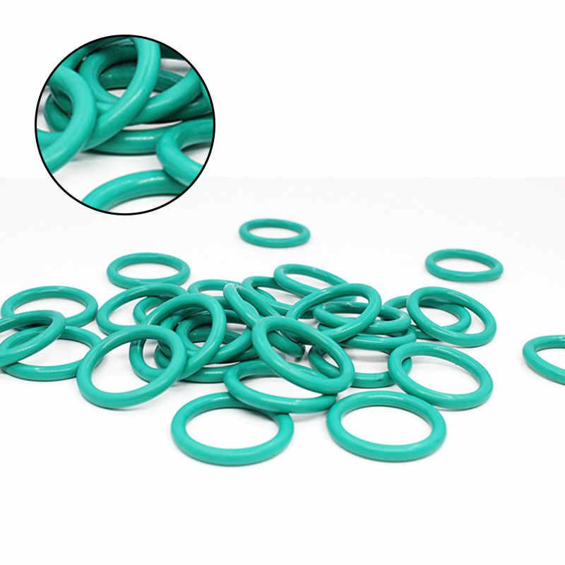 5 unids/lote anillo de goma verde FKM O sello de anillo CS5mm OD31/32/33/34/35/36/37/38/39/40mm arandela de junta de aceite de sellado