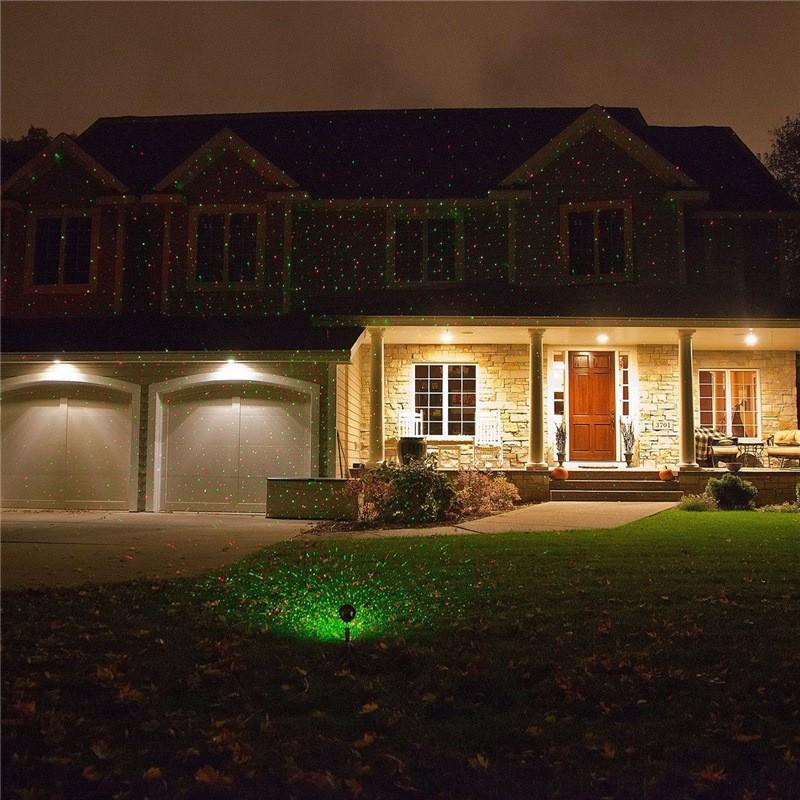 Waterproof Red &Green Laser Light Landscape Spotlights  (7)