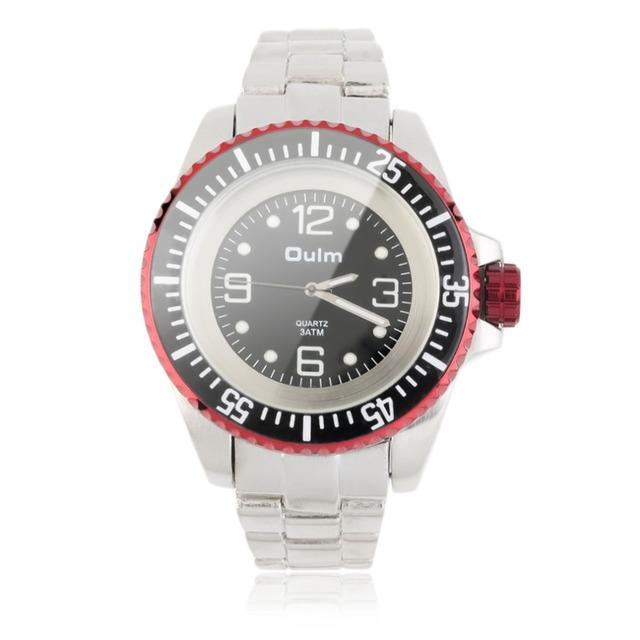 Oulm New Luxury Men Data de Aço Inoxidável Banda Quartz Analógico Rodada Relógio de pulso Casual Relógio Legal Dos Homens Da Marca Relógios 2016 quente!