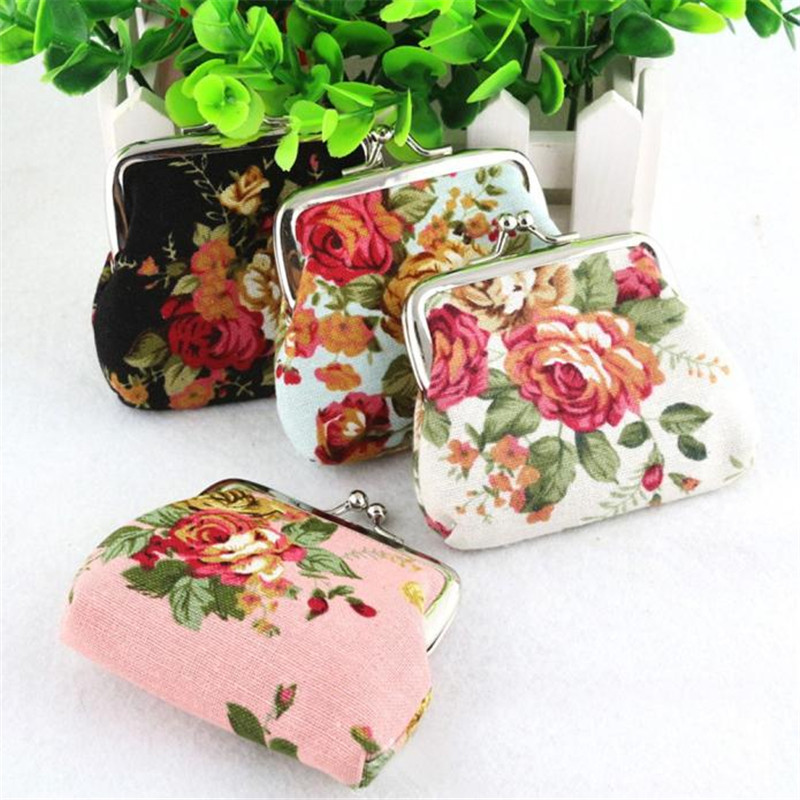 Superior Quality Womens Lady Retro Vintage Flower Small Wallet Hasp Purse Clutch Bag dropship B#
