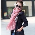 Echarpe 170*45cm Women Scarves Cachecol Feminino 2017 Brand Fashion Casual Foulard All-match Solid Soft Cotton Long Scarf