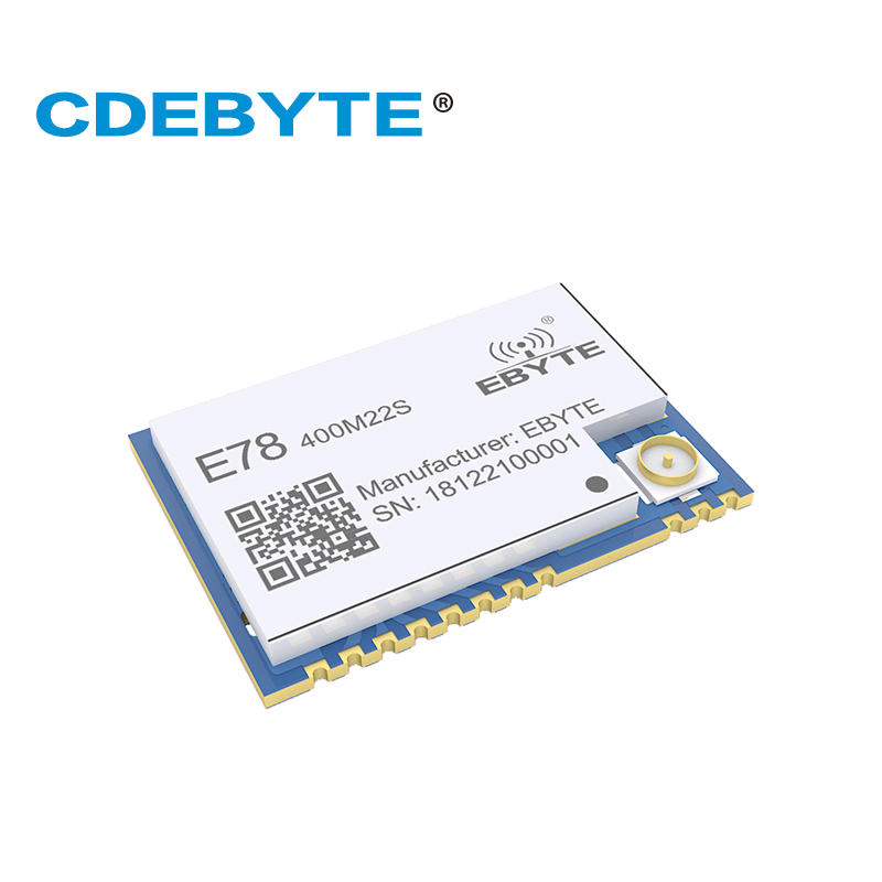 ASR6501 SoC LoRa 22dBm Wireless Transceiver E78-400M22S SPI SMD IPEX Stamp  Hole Connector TCXO RF Transmitter and Receiver