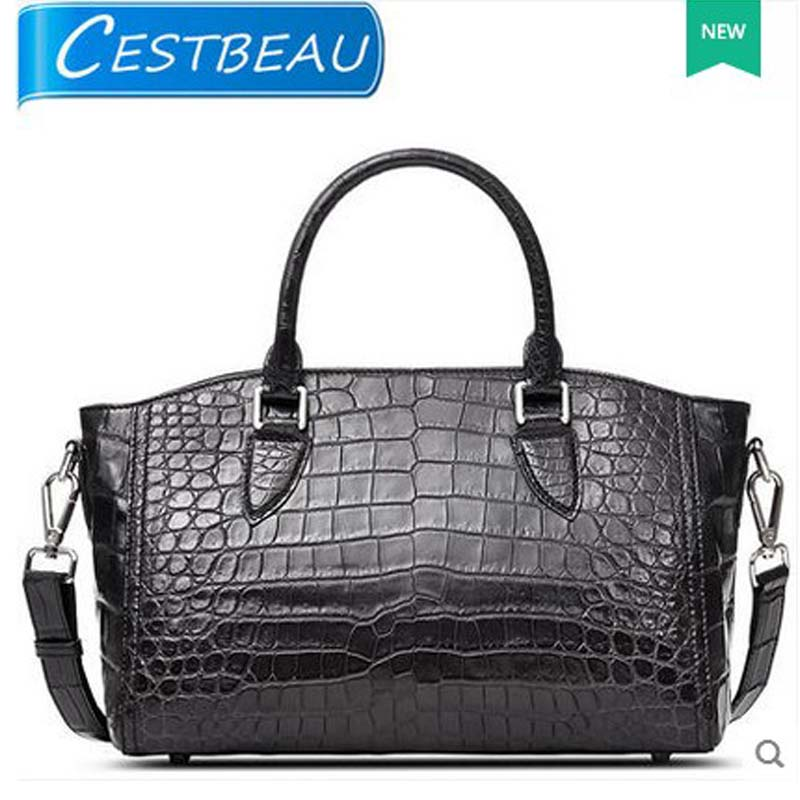 Cestbeau new 2018 real crocodile belly women bag single shoulder women bag   crocodile skin bag yuanyu 2018 new hot free shipping real python skin snake skin color women handbag elegant color serpentine fashion leather bag