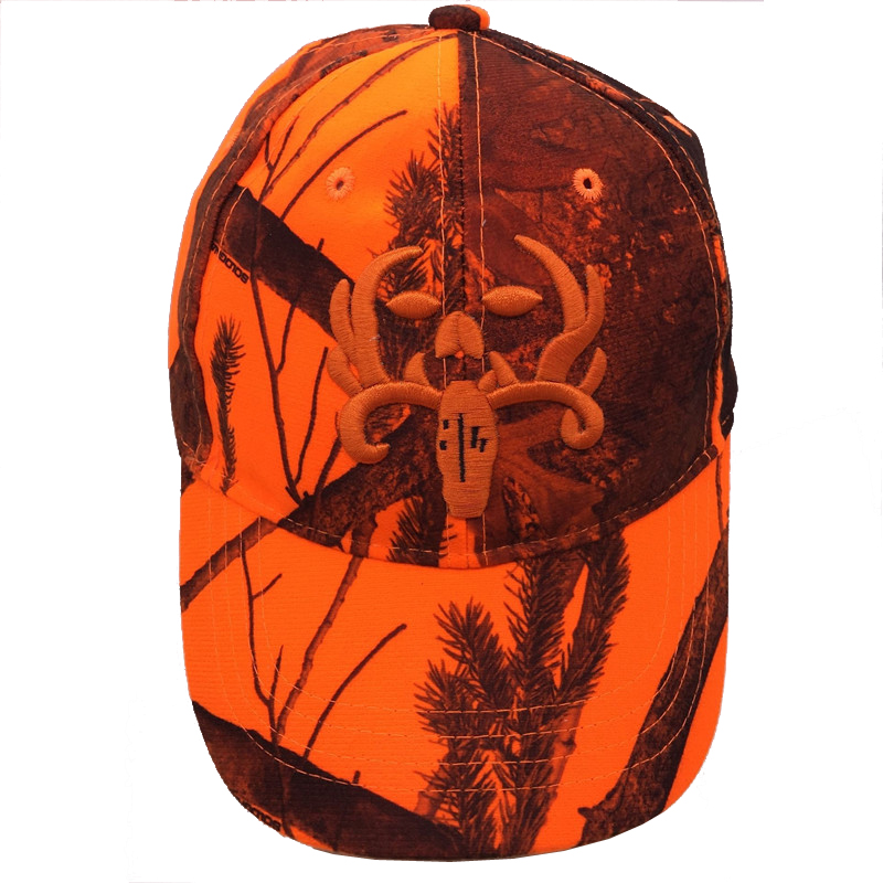 8ff0daf0b96 Hunting Orange Camouflage Cap With Deer Water proof Adjustable Baseball Hat  Tactical Outdoor Camo Cap For Men and Women-in Baseball Caps from Apparel  ...