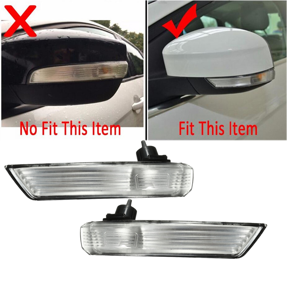 Left  U0026 Right Rear View Mirror Turn Signal Flasher Light Lamp 8m51 13b382 Aa For Ford Focus