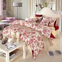 Egyptian Cotton Leaf Bedding Sets Tree Duvet Cover Queen King Shoe Print Bedclothes Sheet Bed Set