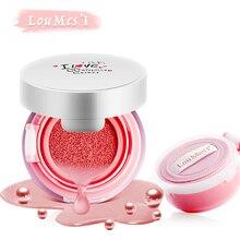 Almofada de ar loumesi blush maquiagem rosto blush com 1 pc de recarga à prova d' água maquiagem cheek color blush maquiagem natural