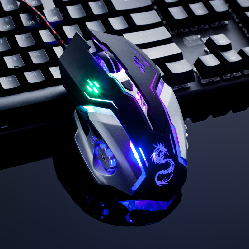 Snigir marque 3500 DPI PC USB ordinateur câblé souris de jeu par jogos pour gamer dota2 cs go mause com fio souris d'ordinateur portable accessoires
