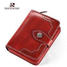 Difenise vintage aushöhlen stil frauen luxus short brieftaschen aus echtem rindsleder qualität große kapazität frauen geldbörsen