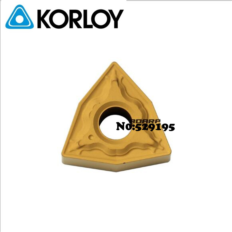 Korloy Original WNMG060404-HM WNMG060408-HM NC3020 WNMG 060404 060408 Carbide Inserts Turning Tool For Steel Lathe Cutter Tools