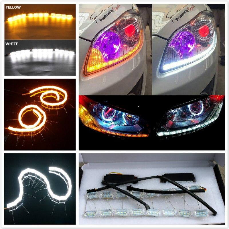 H7 100W COB LED Headlight Bulbs Pair 8000L Canbus For VW Jetta MK3 2005-2010