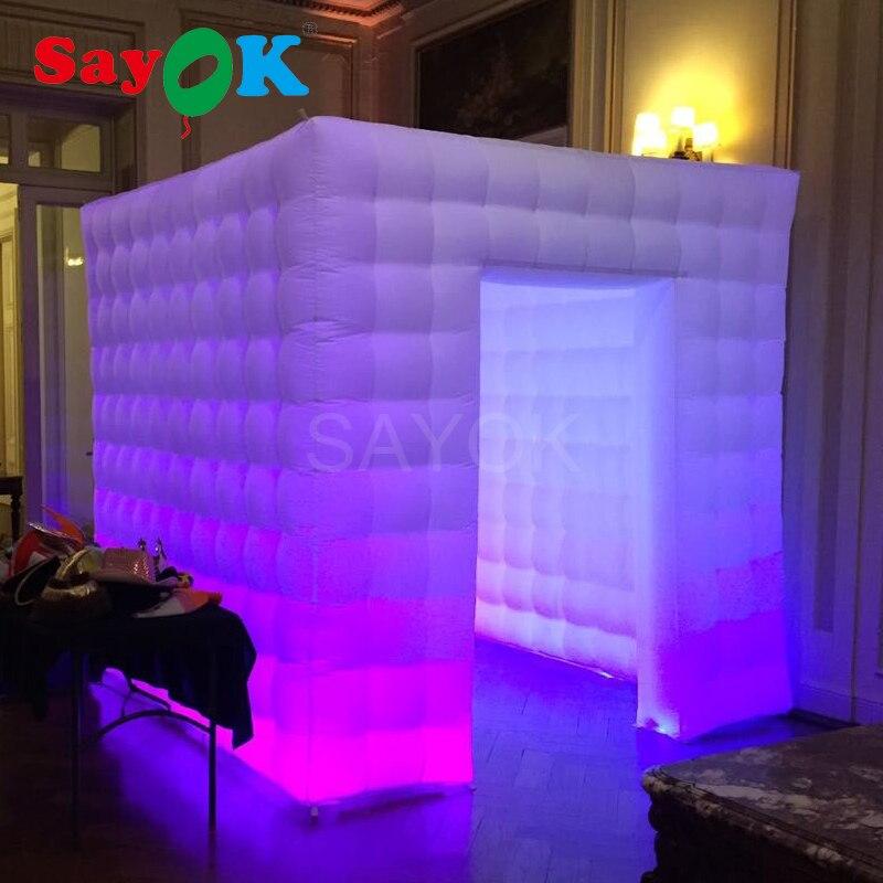 Personalizado boda fiesta photo booth props cabina de fotos recinto inflable photo booth telón de fondo para la venta