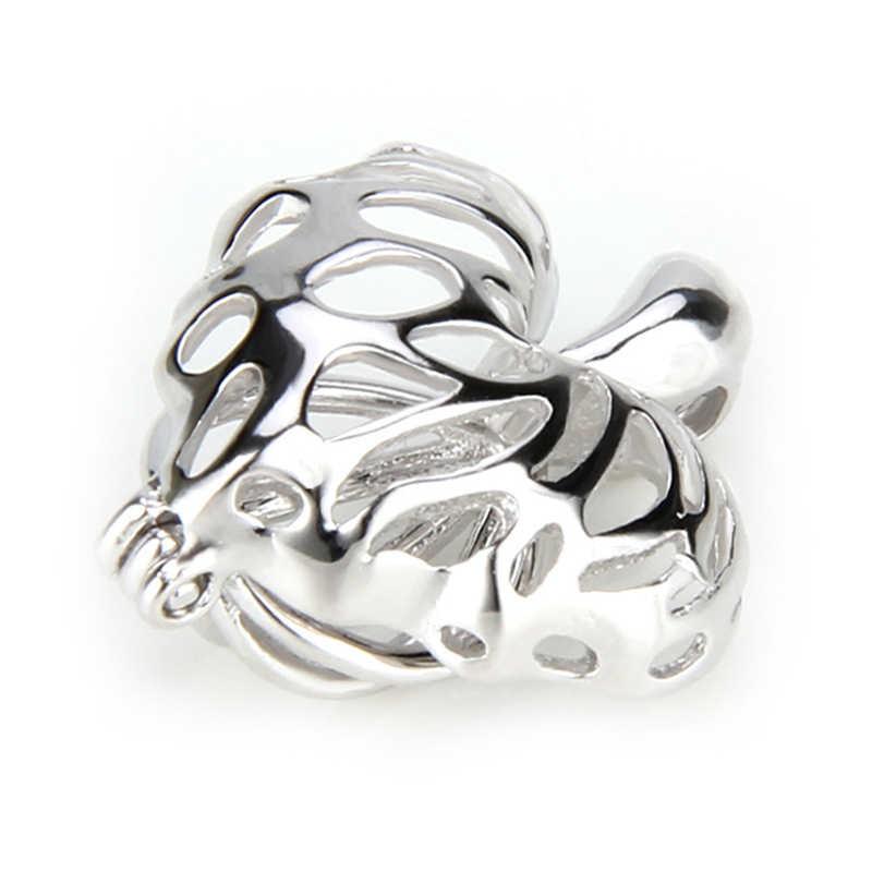 CLUCI الفضة 925 كندا مابل ليف على شكل سحر قلادة 925 فضة المرأة مجوهرات اللؤلؤ المنجد قلادة