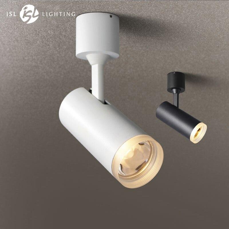 ISL Moderne LED Plafond Spots Surface Monté AC85V-240V Blanc/Noir 7 w/9 w pour Vivre La Maison Bureau éclairage Commercial