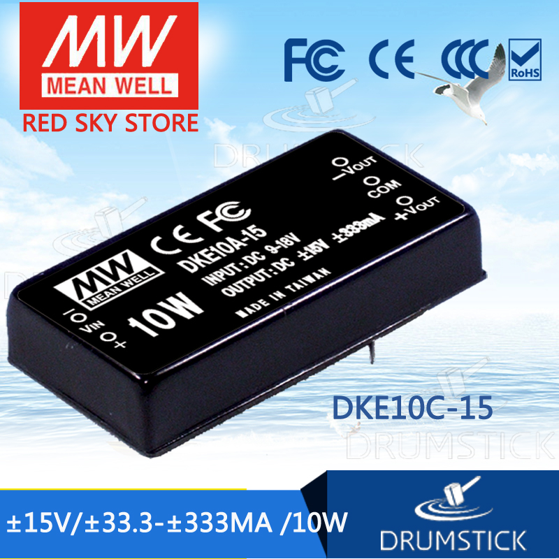 цена на Advantages MEAN WELL DKE10C-15 15V 333mA meanwell DKE10 15V 10W DC-DC Regulated Dual Output Converter