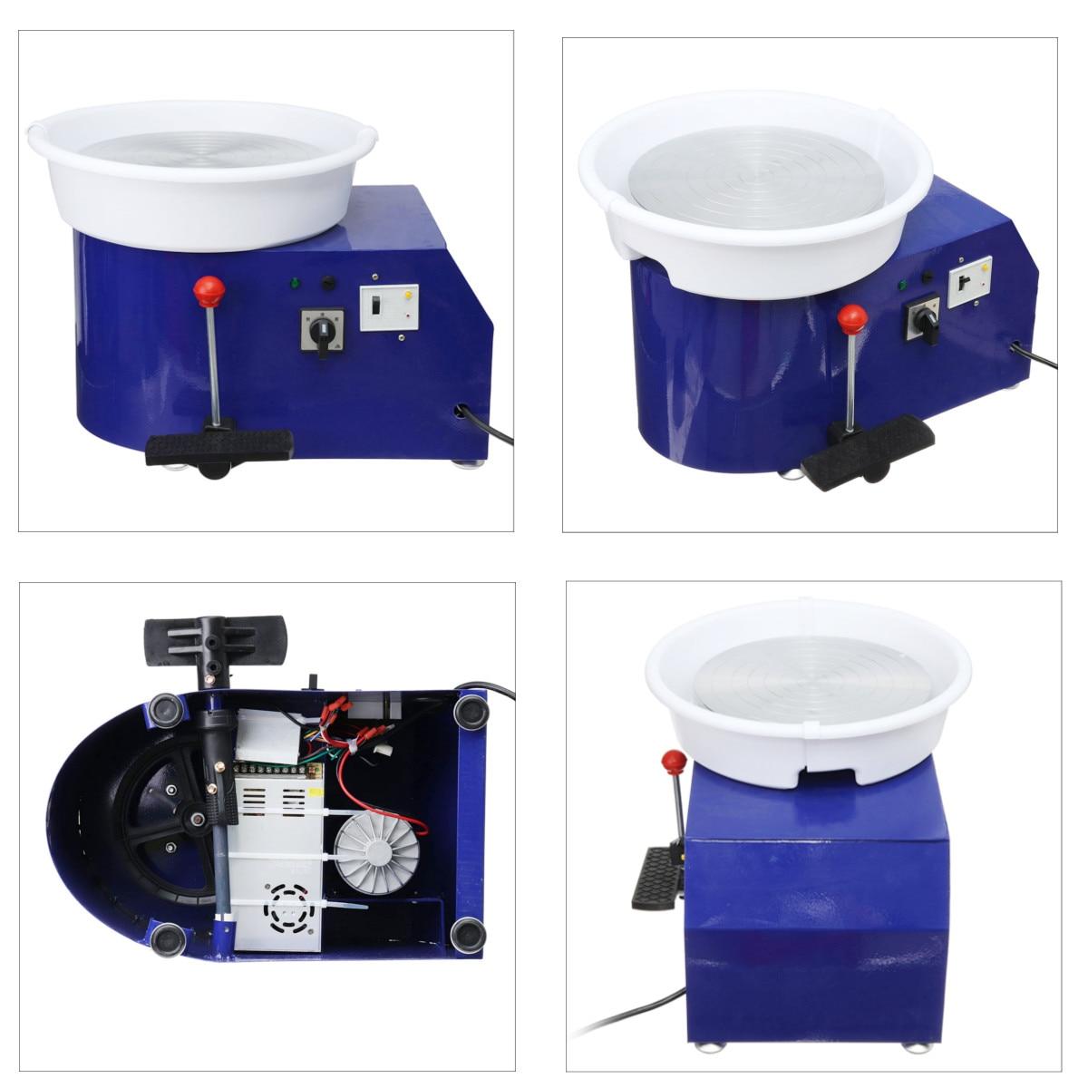 Machine en céramique de roue de poterie électrique de 220 V 550 W Kit de potier d'argile en céramique de 300mm pour la céramique de travail en céramique - 4