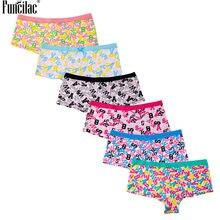 33378138e14 FUNCILAC Women's Cotton Panties Letters Print Womens Boxers Underwear  Boyshorts Lingerie Sexy Ladies Hipster Panties 6pcs