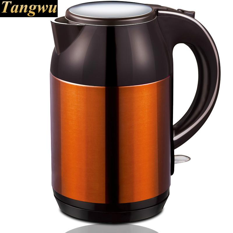 Electric kettle full stainless steel automatic power off household free shipping electric kettle automatic power off anti scald stainless steel