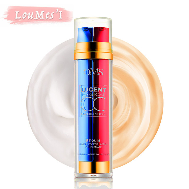 Loumesi CC Cream Long Lasting Makeup Moisturizing Brighten Foundation Natural