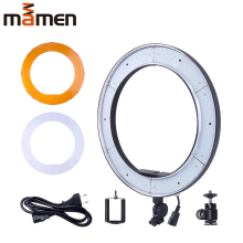 Mamen LED Ring Light Round Lamp For Photography 55W Photo Studio Dimmable Video for Smartphone with Tripod Phone Holder