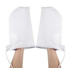 1 paire de gants de manucure mitaines chauffées thérapeutiques pour paraffine cire huile thérapie SPA traitement ongles outils US Plug 100 240V