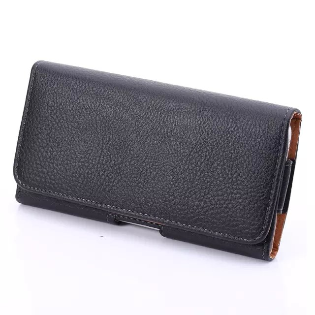 HARJOBEN Smartphone Holster 4,7 tommer herre Litchi Grain læder taljepakker med klip afslappet talje taske mode bælte taske til mandlige