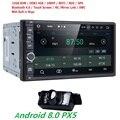 7''android 8,0 8 OctaCore PX5 4 грамма 32grom автомобиль без DVD Радио 2din универсальный gps Навигация стерео аудио HD 1024*600 WI-FI Bluetooth