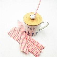 25pcs/set hawaiian pink flower paper straws baby Kids Birthday Party Wedding Decoration Paper Drinking Straws party supplies