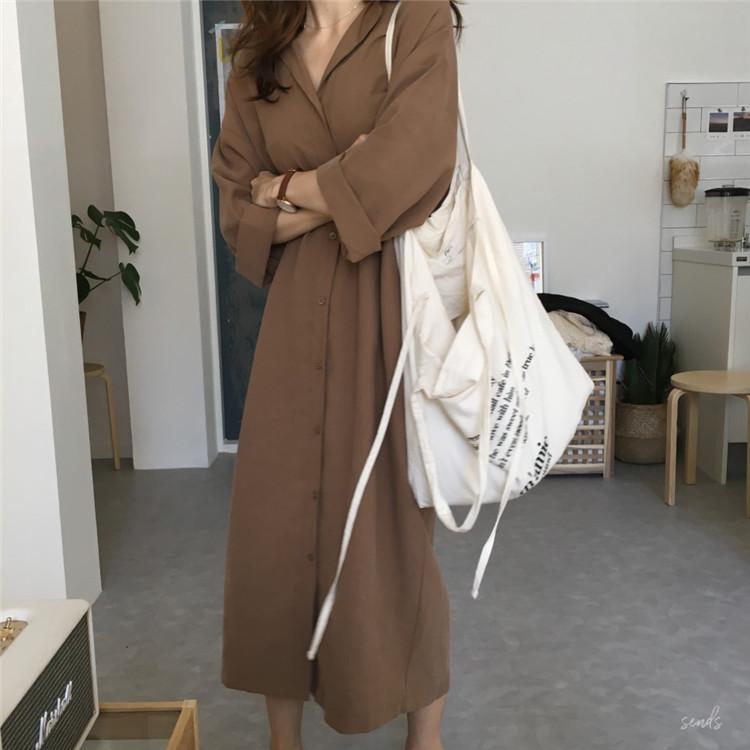 19 spring Autumn fashion female batwing sleeve solid shirt dress women blouses casual loose long big size shirts blusas 5