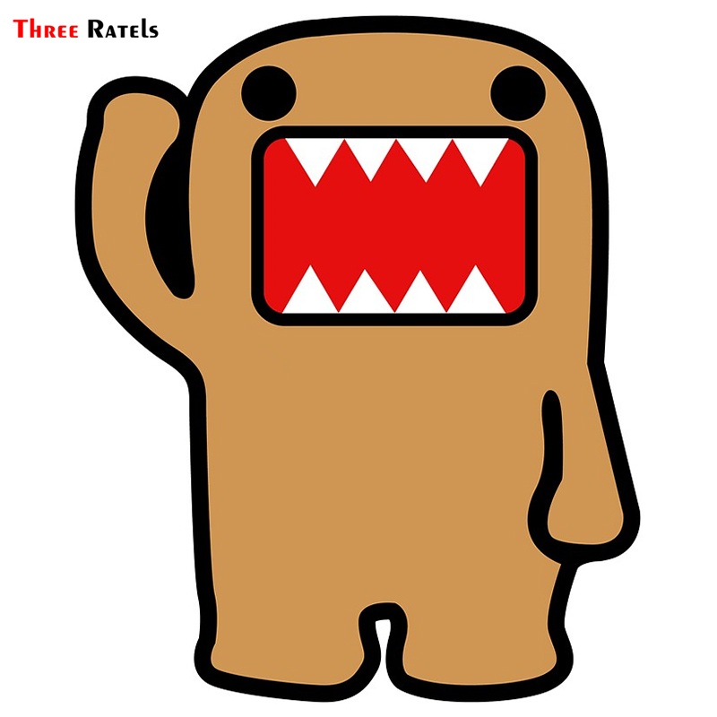 Three Ratels TRL677# 10x12.2cm Funny Car Stickers Domo Jdm Sticker Decal Pvc Colorful  Car Stickers And Decals