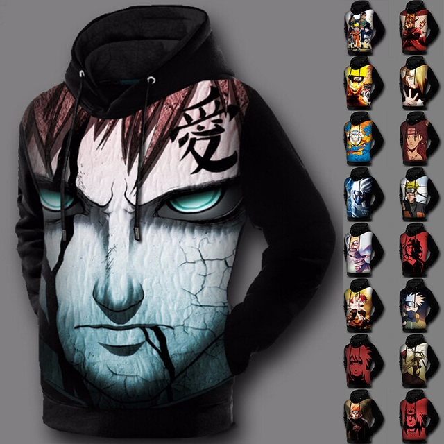 Naruto 3D Print Anime Hoodie Sweatshirt Pullover