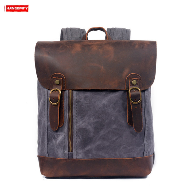Unisex Backpacks Retro shoulder bag female student backpack fashion travel influx of leisure men and women
