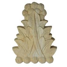 Pegatinas de Esquina de madera tallada de roble sin pintar Retro Vintage con marco de aplicación Onlay, figuritas para muebles, puertas de armarios, manualidades decorativas para el hogar