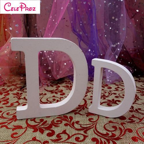 Details about  /8cm Wooden Letter A-Z Wedding Party Home Garden Decor Ornament White