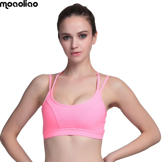 79ffd269af372 TOP Yoga sport A Hot Sports Bra Women Fitness Top Shake proof Padded Yoga  Bra Workout