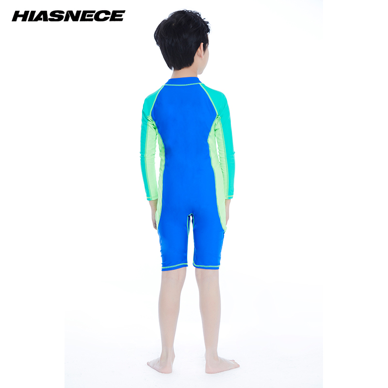 Boys one piece sport swimming suit professional training competition swimwear 2018 new kid 39 s sun proof beach bathing suits 5 12Y in Children 39 s One Piece Suits from Sports amp Entertainment