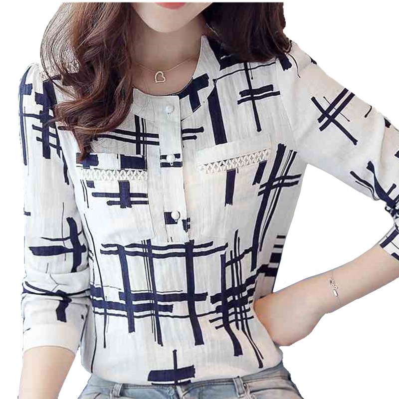 EvelingAsky Store EveingAsky Elegant Striped Shirts Women Chiffon Tops Women's Blouses 2016 Spring Women Blouses Office Lady Large Size 3XL