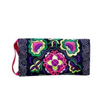 National wind coin purse Women Ethnic Handmade Embroidered Clutch Bag Vintage Purse Wallets high quality cartera mujer5H(China)