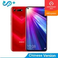 Huawei Honor просмотра 20 мобильный телефон Honor V20 6,4 дюйма полный вид Kirin 980 Octa Core Android 9,0 NFC 4000 Max две sim карты сотовый телефон