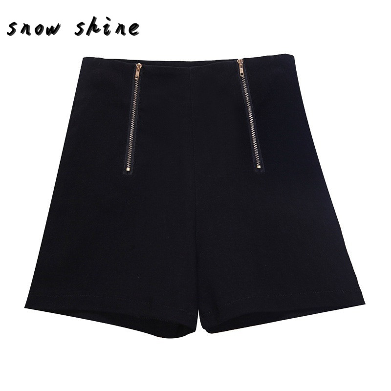 snowshine YLSW Summer Women Girl Hot Pants Casual Short Pants High Waist Zipper Shorts free shipping